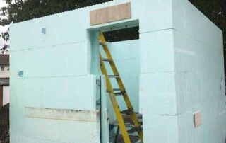 A house extension project using ICF -Insulated Concrete Form wall