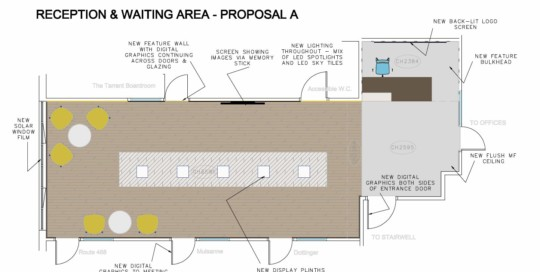 Reception and waiting area proposal A