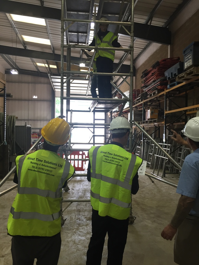 scaffolding PASMA office fit out